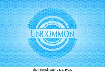 Uncommon water wave concept style emblem.