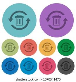Undelete darker flat icons on color round background