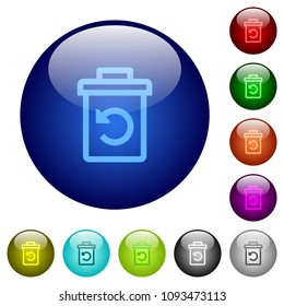 Undelete icons on round color glass buttons