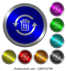 Undelete icons on round luminous coin-like color steel buttons