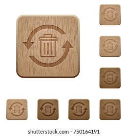 Undelete on rounded square carved wooden button styles