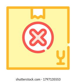 undelivered package box color icon vector. undelivered package box sign. isolated symbol illustration
