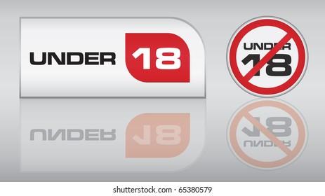 Under 18 vector