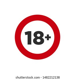 Under 18 years Sign Mark icon template color editable. No 18 years old ,Under eighteen symbol vector sign isolated on white background. Simple logo vector illustration for graphic and web design.