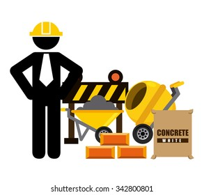 Under construction concept with tools design, vector illustration 10 eps graphic