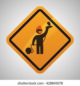 Under construction design. tool icon. isolated illustration