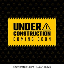 Under construction design, website development concept, vector illustration