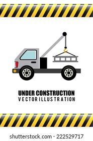 under construction graphic design , vector illustration
