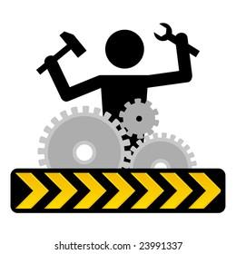 under construction icon / symbol