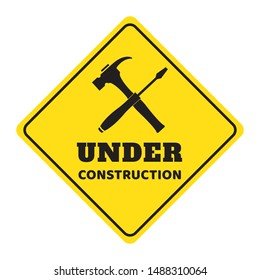 under construction road sign drawing by illustration