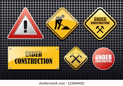 Under construction set vector sign for site