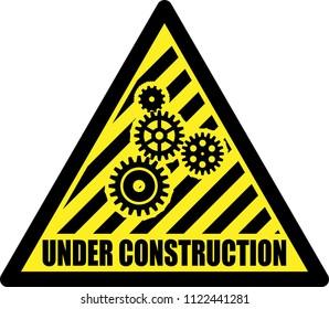 Under construction sign, error 404. Vector illustration