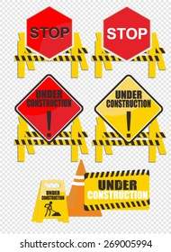 under construction, sign vector