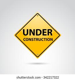 Under construction sign. Vector art.