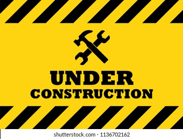 Under Construction Sign. Vector illustration