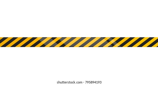 Under construction tape on a white background, Vector illustration