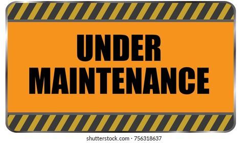 Under Maintenance signage vector.