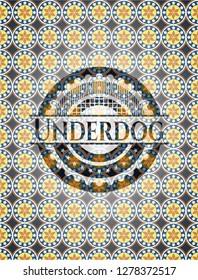Underdog arabesque emblem background. arabic decoration.