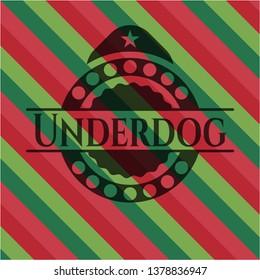 Underdog christmas badge.