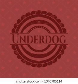 Underdog red emblem. Retro