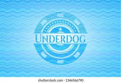 Underdog water concept style emblem.