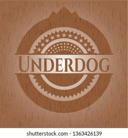 Underdog wood emblem. Vintage.