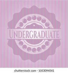 Undergraduate retro style pink emblem