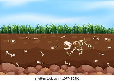 An Underground and Farm illustration