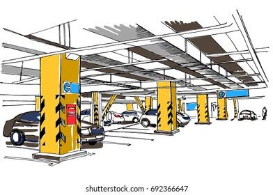 Underground parking sketch