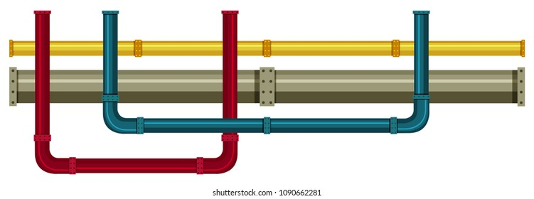 Underground Pipe on White Background illustration