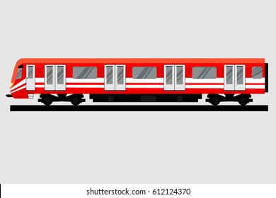 Underground train. Isolated Subway transport. Metro Train on Line. Vector illustration