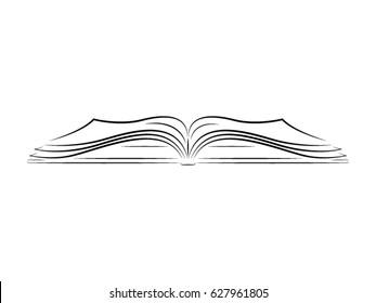 underlining book drawing vector