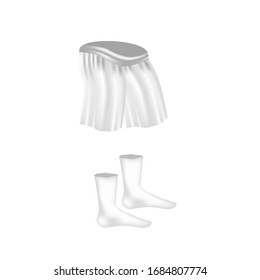Underpants and socks. Mock up. Vector illustration.