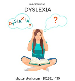 Understanding dyslexia known as mental disorder trouble with reading
