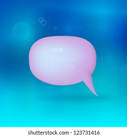 Underwater 3d speech bubble with your text
