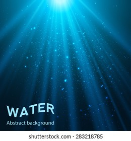 underwater abstract blue shine background vector illustration