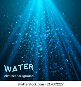 underwater background vector illustration