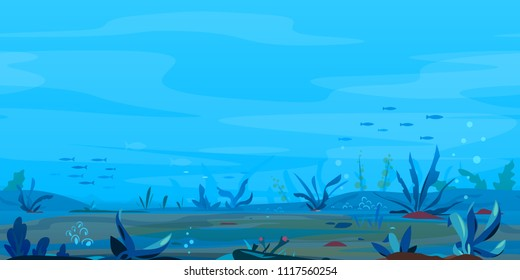 Underwater Landscape Game Background
