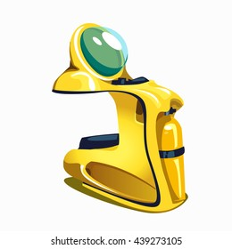 Underwater scooter isolated on a white background. Vector illustration.