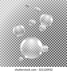 underwater or water bubbles on transparent background, vector