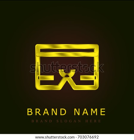 25cea320533ceb Underwear Golden Metallic Logo Stock Vector (Royalty Free) 703076692 ...
