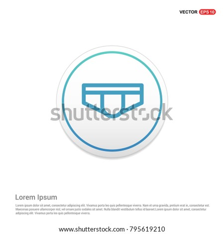underwear icon white background icon template stock vector royalty