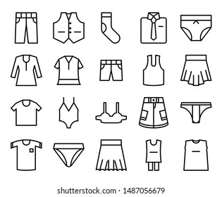 Underwear icons for men and women that can be used to enhance the appearance of your blog or app