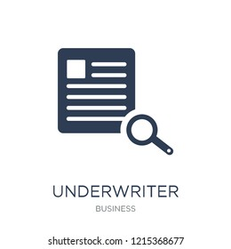 Underwriter (insurance) icon. Trendy flat vector Underwriter (insurance) icon on white background from business collection, vector illustration can be use for web and mobile, eps10