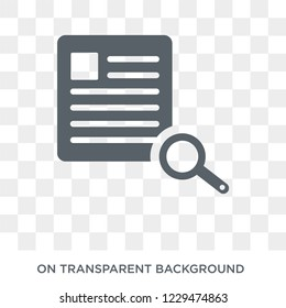Underwriter (insurance) icon. Trendy flat vector Underwriter (insurance) icon on transparent background from business   collection.