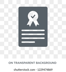 Underwriter (shares) icon. Trendy flat vector Underwriter (shares) icon on transparent background from business   collection.
