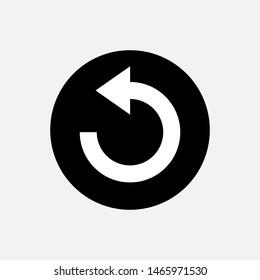 Undo Icon. Back or Return Illustration As A Simple Vector Sign & Trendy Symbol for Design,  Websites, Presentation or Mobile Application.