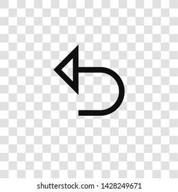 undo icon from miscellaneous collection for mobile concept and web apps icon. Transparent outline, thin line undo icon for website design and mobile, app development