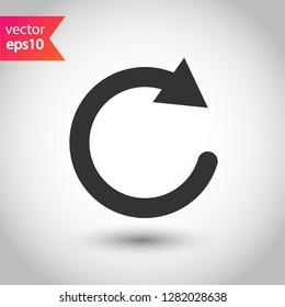 Undo icon. Refresh vector icon. Reload sign. Redo symbol. Update icon. Rotation sign. Arrow icon. EPS 10 flat symbol