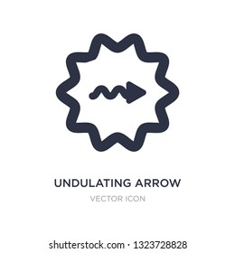 undulating arrow icon on white background. Simple element illustration from UI concept. undulating arrow sign icon symbol design.